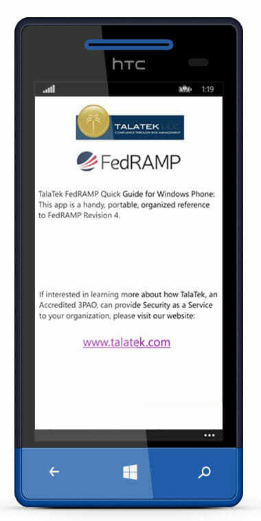 Windows FedRAMP - TalaTek Mobile Phones and Apps
